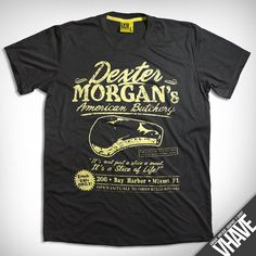 size XL  V009.Dexter Morgan  Light Black   Unique Hand by VHAVE, $16.95