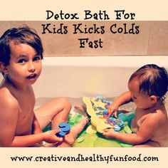 How To Kick Colds Fast With A Detox Bath. After several years of learning about natural remedies, a good detox bath is one of my favorite ways of kicking a cold fast. Taking a detox bath will help your kids relax, clean their systems of toxins, and absorb Cold Remedies, Health Remedies, Natural Remedies, Baby Health, Kids Health, Healthy Kids, Get Healthy, Healthy Living, Kids And Parenting