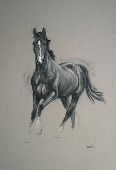 Hermoso Arte equino caballo lámina edición limitada