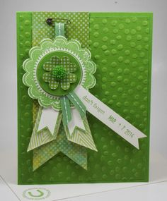 Laura's Works of Heart: BLUE RIBBON ST. PATTY'S CARD: