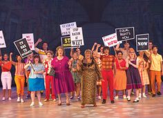 Protest group from theatre production Hairspray! A fantastic show! Appearing in the latest edition of Her Magazine Get your FREE digital copy here http://viewer.e-digitaleditions.com/i/108312/1  #businessmagazine #hermagazine #lifestylemagazine