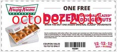 On (the Day of Dozens), Krispy Kreme is offering a free dozen original glazed donuts with the purchase of a dozen original glazed. Grocery Coupons, Online Coupons, Free Printable Coupons, Free Printables, Coupons For Boyfriend, Krispy Kreme, Love Coupons, Extreme Couponing, Coupon Organization