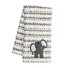 """Perfect for your Baby and Nursery Lambs & Ivy Jungle Safari White/Tan Plush Minky Elephant Nursery Baby Blanket,Lambs & Ivy Jungle Safari White/Tan Plush Minky Elephant Nursery Baby Blanket, This super soft, cozy warm fuzzy minky blanket features Jett the elephant, who has a gray furry body with large white and gray ears The decorative striped animal blanket is 30"""" x 40"""" and has a gray inset ma..."""