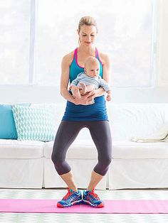 Butt and Thigh Workout for New Moms (via Parents.com) Good first exercises after having a baby