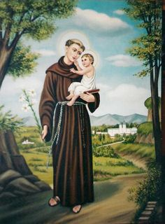 Imagen de san Antonio de padua St Anthony Prayer, Saint Anthony Of Padua, Saint Antony, Padova, Santa Teresa, Goddess Lakshmi, Catholic Saints, The Beatles, Christianity