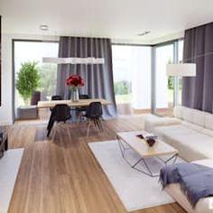 Projekt domu olaf g2 energo plus nowoczesna kuchnia od pracownia projektowa archipelag nowoczesny   homify Office Desk, Furniture, Home Decor, Living Room, Desk Office, Decoration Home, Desk, Room Decor, Home Furnishings