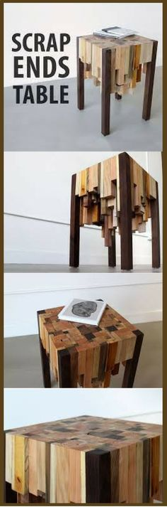 Make a great little table with scrap ends. Waste not Want not vid.staged.com/UxYs