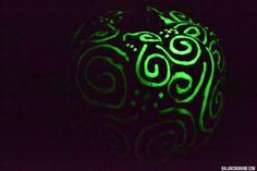 No-carve Halloween pumpkin ideas: Puffy Glow in the Dark Paint