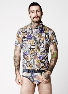 I want to design underwear that is one piece suit top like a t-shirt,. or polo neck, or vest like all body fitted.