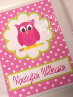 printable binder insert cover pink owl back to school binder insert cover printable owl binder insert school supply personalized binder