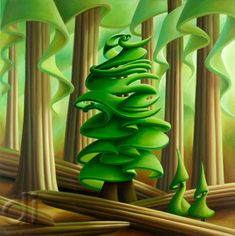 """""""Family Tree"""" by Dana Irving. [Oil on Canvas] Art And Craft Design, Design Art, Abstract Landscape, Landscape Paintings, Tree Paintings, Canadian Art, Felt Art, Tree Art, Artist At Work"""