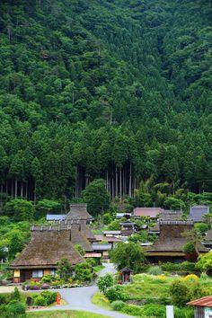 The landscape of mountain village of Good old Japan. Kyoto Miyama-cho. 古き良き日本の原風景の色濃く残る山里、京都美山町。#Japan #kyoto #countryside