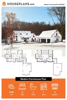 Check out this modern farmhouse exterior that features a big front porch. Inside, it gives you a cottage farmhouse bathroom and more. Questions? Call 1-800-913-2350 today. #blog #architecture #modern #bungalow #architect #architecture #buildingdesign #country #craftsman #houseplan #homeplan #house #home #homeblog Modern Farmhouse Exterior, Modern Farmhouse Kitchens, Farmhouse Design, Farmhouse Style, Big Front Porches, Modern Bungalow, Cottage Farmhouse, Country House Plans, Building Design