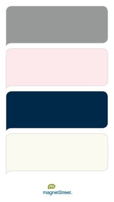 Classic Gray, Cream Rose, Navy, and Ivory Wedding Color Palette - custom color palette created at MagnetStreet.com