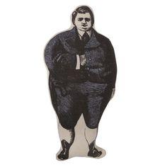 Thomas Paul Chubby Man Doll Pillow - Gray