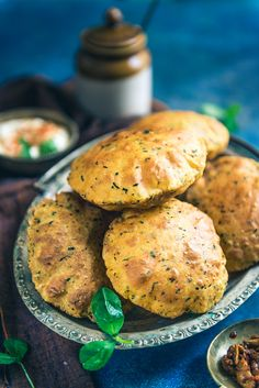 Combined with the goodness of fresh methi leaves, ajwain, curd and basic spices, Dahi Methi Poori turns out as a clear winner during any meal. Indian Bread Recipes, Indian Breads, Puri Recipes, Diwali Recipes, Paratha Recipes, Vegetarian Recipes, Cooking Recipes, Snack Recipes, Easy Recipes