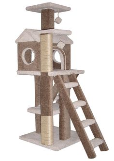 Cat Trees Furntiure Condo Climbing Gym Tabby TreeHouse - PlaytimeWorkshop.com