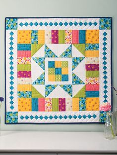 Star Bright Wall Hanging Pattern from Annie's Craft Store. Order here: https://www.anniescatalog.com/detail.html?prod_id=136944&cat_id=1644