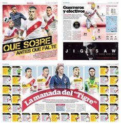 Selección Peruana: radiografía del plantel de Ricardo Gareca rumbo a Rusia 2018. #WorldCup #Soccer #Design #Newspaper