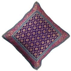 Decorative silk cushion covers from India Hand-Woven Christmas gift 40 cm x 40: Amazon.de: Kitchen & Home