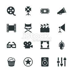 e73de69cc4766 Film Industry Silhouette Icons Ilustração Artística Vectorial Stock Isenta  de Royalties Tatuagens De Câmera, Fotos