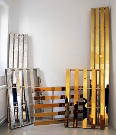 Mirrored pallets by Garth Roberts.