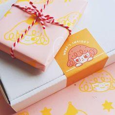 Custom Packaging, Print Packaging, Printing On Tissue Paper, Baking Packaging, Photo Deco, Packaging Design Inspiration, Sticker Design, Branding Design, Creations