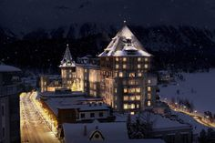 Badrutt's Palace Hotel, St. Moritz, Switzerland, historic and luxurious hotel built in 1898, complete restoration since 2004 acquisition, part of Leading Hotels of the World