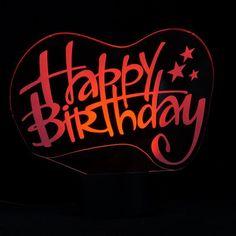 Happy Birthday sign 3D LED Lamp
