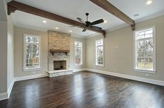 painted beams living room - Google Search