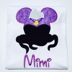 A personal favorite from my Etsy shop https://www.etsy.com/listing/458976388/mickey-ursula-personalized-embroidered