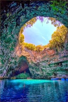 Melissani Lake - Kefalonia, Greece--- I want to go to Greece one day