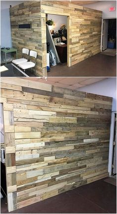 You can finest make the use of the wood pallet in the brilliant creation of the wall paneling option as well. This wall paneling amazing idea would comprise the complete use of the wood pallet in the designing that is making it look so awesome and brilliant.