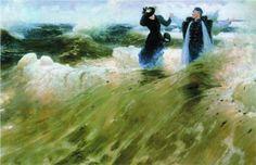 art for art's sake Ilya Repin, Russian Painting, Russian Art, Psycho Art, Oil Painting On Canvas, Canvas Art, Expositions, Art Database, Art World