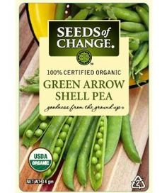 Seeds of Change 06078 Green Arrow Shell Pea by Seeds of Change. Save 71 Off!. $2.59. 100-percent certified organic seeds grown in the usa for over 20-year. Seeds of change contributes 1-percent of net sales to advance the cause of sustainable organic agriculture worldwide. Independently tested for high germination rates and purity, meets or exceeds federal standards. Free of gmo's (genetically modified organisms), chemicals and pesticides. Hermetically sealed package that is r...