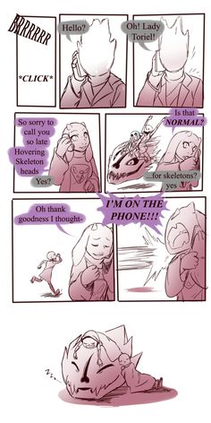 Undertale Im on the phone! Source: based on the #momplates route of @zarla-s handplates web series. Although some like to speculate that in this scenario Toriel took the boys, I'd imagine it was a forced handover with supervised visits until Toriel can train Gaster up into being a...