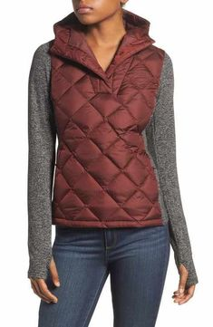 harway hybrid pullover in sequoia red nordstrom North Face Women, The North Face, Rain Slicker Womens, Rain Jacket Women, Hooded Raincoat, Fishing Outfits, Diamond Quilt, Raincoats For Women, Winter Jackets