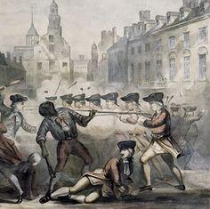 Boston Massacre, March 5, 1770 (Crispus Attucks, a runaway slave, led the crowd of men ...)  Schomburg Center for Research in Black Culture.