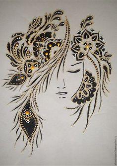 So interesting for stones and filigrees. Dot Art Painting, Mandala Painting, Fabric Painting, Mandala Dots, Mandala Design, Pebble Art, String Art, Medium Art, Rock Art