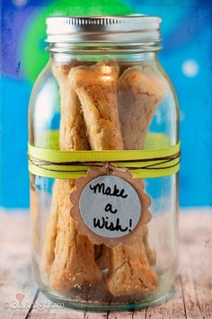 Cheesy-Dog-Cookies. 1 1/2 cups (240 grams) brown rice flour 1 1/2 cups (135 grams) oat flour 3/4 cup shredded cheddar cheese 3/4 cups shredded parmesan, or similar, cheese 1 egg 1 cup (250 ml) water or chicken broth
