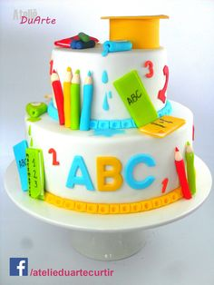 Adam's birthday cake Teachers Day Cake, Teacher Cakes, Fondant Cakes, Cupcake Cakes, Sparkle Cake, School Cake, Retirement Cakes, Specialty Cakes, Novelty Cakes