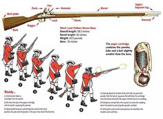 Variations of the Brown Bess saw use on both sides of the American Revolution. (Illustration by Gregory Proch)