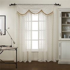 Cheap figure trophy, Buy Quality curtains for the bathroom directly from China curtains children Suppliers: TWOPAGES(One panel)Modern Figure Sheer Curtain With Valance With Valance Rod Pocket Custom Made Curtains Beige Curtains, Valance Curtains, Valances, Home Interior, Interior Decorating, Interior Design, Custom Made Curtains, Geometric Embroidery, Feltro