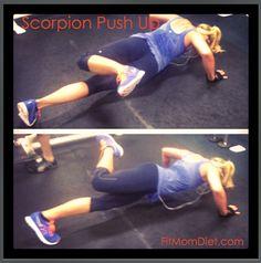 Scorpion Push Up