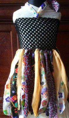 Gypsy Owls Fairy Princess Rag Tag Handmade Dress Suits Age 2-3-4 Years Halloween…