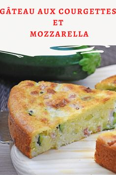 The preparation of zucchini and mozzarella cake is very simple and its particularity lies precisely in the use of the yogurt pot as a unit. Vegan Breakfast Recipes, Healthy Dessert Recipes, Vegan Recipes Easy, Vegetarian Recipes, Zucchini Mozzarella, Toddler Muffins, Vegan Crackers, Watermelon Recipes, Recipe Using