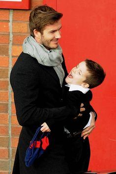 David Beckham seems to be as good a dad as he is gorgeous.
