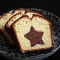 Merry Xmas - Cake marbré étoilé - Beau à la louche // Done avec les couleurs inversées : mauvaise idée. A refaire ds le bon sens !