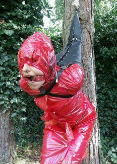 Raincoat bondage