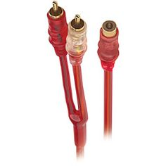 Raptor Red Hot Series RCA Y-Adapter - 1 Female To 2 Male  Metra RHRCA-Y1  PRICE DROP!  PRICE: $1.59	  #RCA #Y-Adapter